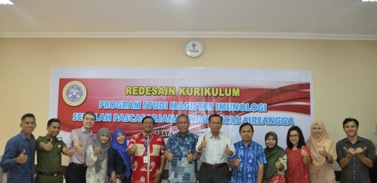 Redesain Kurikulum S2 Imunologi Universitas Airlangga Tahun 2017